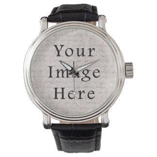 Arrière - plan français vintage de papier montres