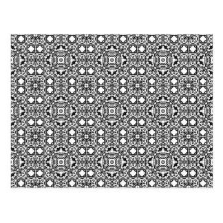 Arrière - plan hypnotique noir et blanc carte postale