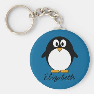 arrière - plan mignon de bleu de pingouin de bande porte-clef