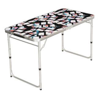 arrière - plan moderne et abstrait table beerpong