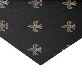 Arrière - plan noir avec Fleur de Lis Papier Mousseline