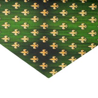 Arrière - plan noir et vert avec de l'Gold Fleur Papier Mousseline