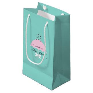 Arrosez le sac de cadeau de partie de douche bleue