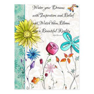 Arrosez vos rêves avec la carte postale