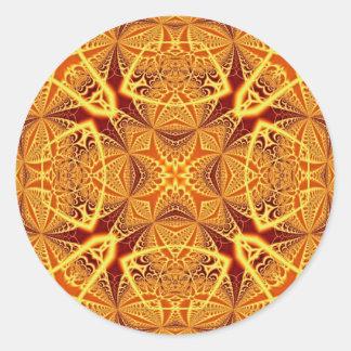Art 1229 de fractale sticker rond