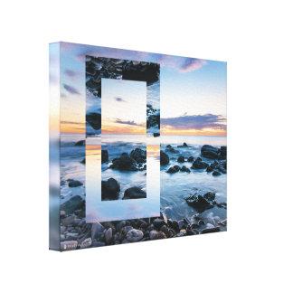 Art abstrait - beau coucher du soleil géométrique toiles