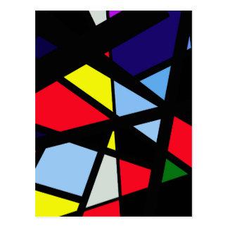 Art abstrait coloré carte postale