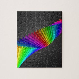Art abstrait de conception de couleur puzzle