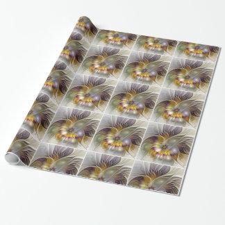 Art abstrait de fractale de fleur d'imaginaire papier cadeau