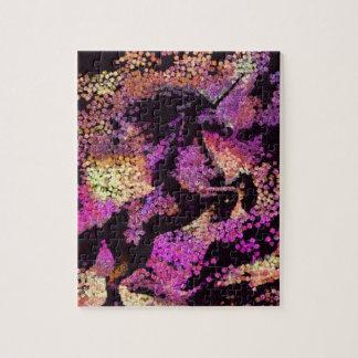 Art abstrait de licorne magique d'imaginaire puzzle