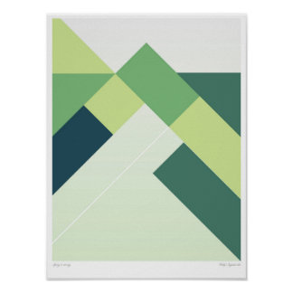 Art abstrait de mur de la géométrie, affiche