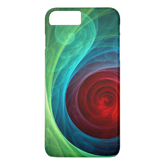 Art abstrait de Red Storm Coque iPhone 7 Plus