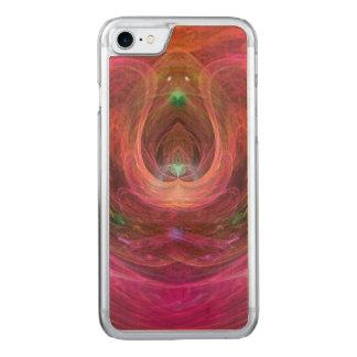 Art abstrait d'imaginaire coque en bois iPhone 7