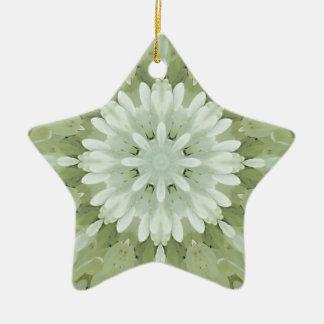 art abstrait floral blanc de maison de mariage de ornement étoile en céramique