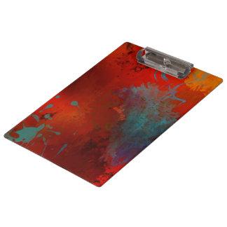 Art abstrait grunge de Digitals de rouge, d'Aqua