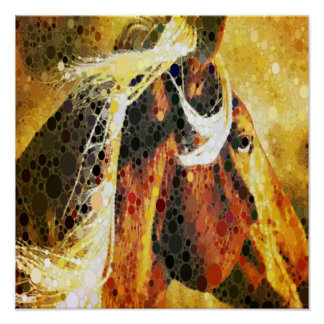 art abstrait moderne de pays occidental de cheval