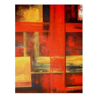 Art abstrait moderne de peinture de toile cartes postales