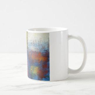 Art abstrait moderne mug blanc