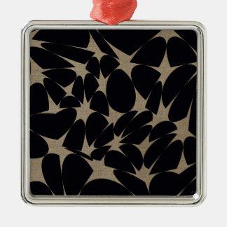 Art abstrait ornement carré argenté