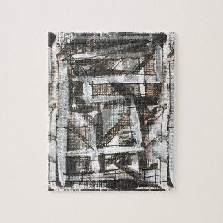 Art abstrait peint parMain de saleté Puzzle