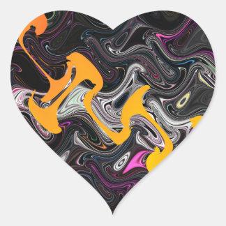 Art abstrait sticker cœur