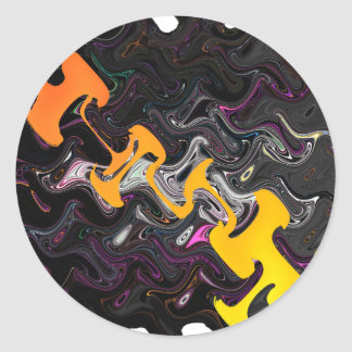 Art abstrait sticker rond