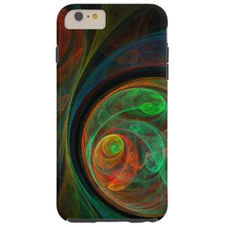 Art abstrait vert de renaissance coque tough iPhone 6 plus