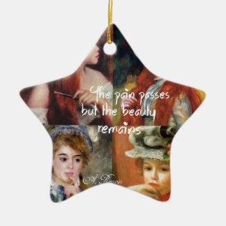 Art, beauté et amour dans des peintures de Renoir Ornement Étoile En Céramique