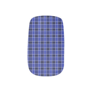 Art bleu de clou de plaid stickers pour ongles