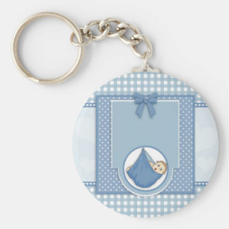 Art bleu de crèche de partie de motif de garçon de porte-clés