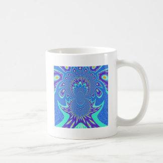 Art bleu moderne mug blanc