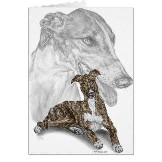 Art Brindle de chien de lévrier Carte