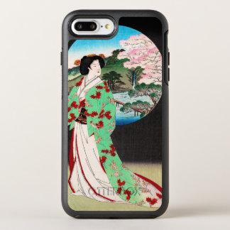 Art classique japonais oriental frais de dame de coque otterbox symmetry pour iPhone 7 plus