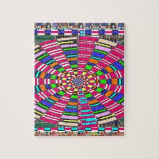 ART coloré circulaire rond de cercle de mandala de Puzzle