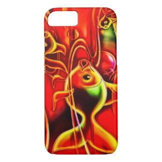 Art d'aerographe de poissons d'or coque iPhone 7