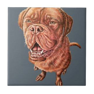 Art d'animal de dessin de chien de mastiff de petit carreau carré