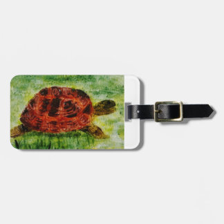Art d'animal de tortue étiquettes bagages