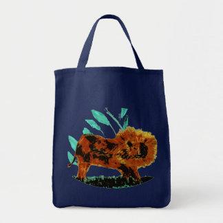Art d'animal sauvage de lion tote bag