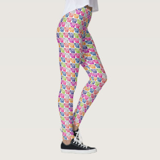 Art de bruit chaud de lèvres leggings