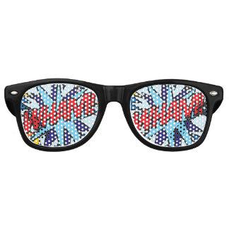 Art de bruit de bande dessinée VLAN ! lunettes de