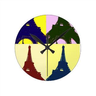 Art de bruit de Tour Eiffel Horloge Ronde