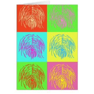 Art de bruit Terrier tibétain Carte