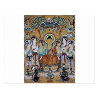 Art de cavernes de Dunhuang Mogao de Bouddha et de Carte Postale