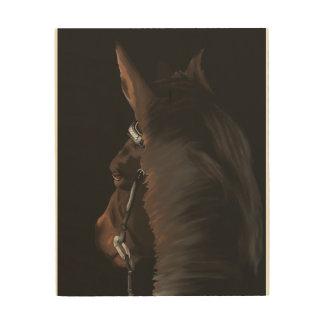 Art de cheval sur le bois