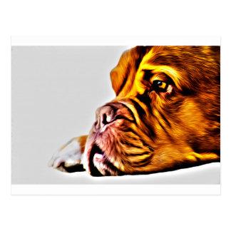 Art de chien carte postale
