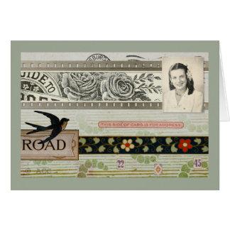 Art de courrier carte de vœux