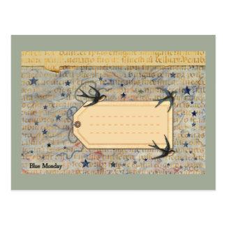 Art de courrier carte postale