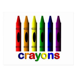 Art de crayons pour la carte postale d'enfants