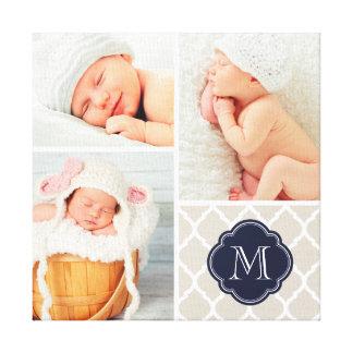 Art de crèche de collage de photo de bébé de toiles