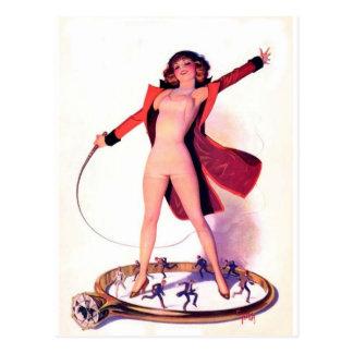 Art de cru d'amusement de film de jours de cirque carte postale